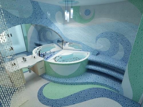 плитка мозаика для ванной комнаты фото дизайн