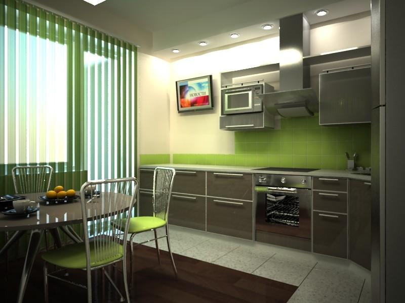 Телевизор на кухне фото в интерьере