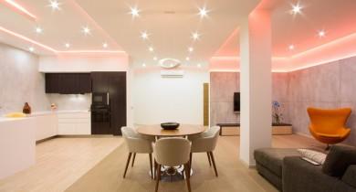 колонны в интерьере квартиры в современном стиле фото