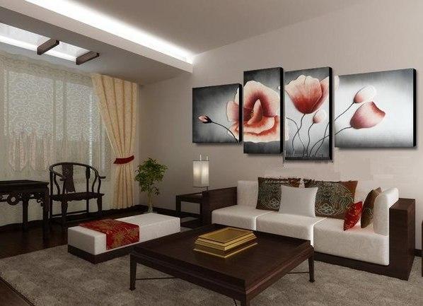 Модульные картины для гостиной фото