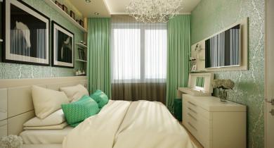 дизайн спальни 10 кв.м в современном стиле фото