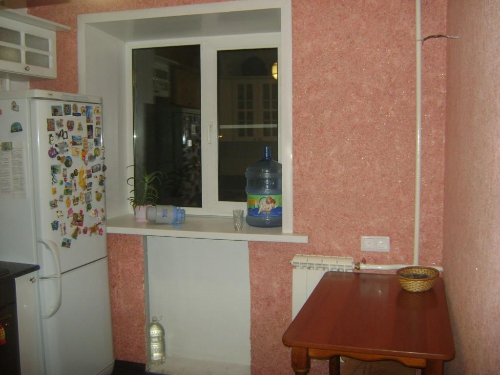 Жидкие обои на кухне фото интерьер