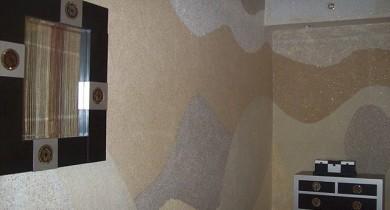 жидкие обои фото интерьеров в обычных квартирах
