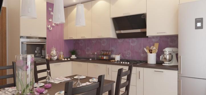 интерьер кухни 9 кв.м фото в панельном доме