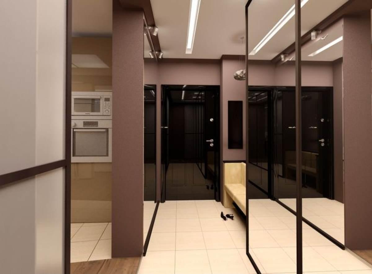 Дизайн узкой прихожей коридора