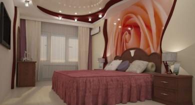 фотообои в спальню над кроватью фото
