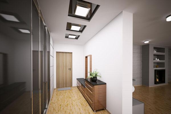 Потолок в узкой прихожей фото
