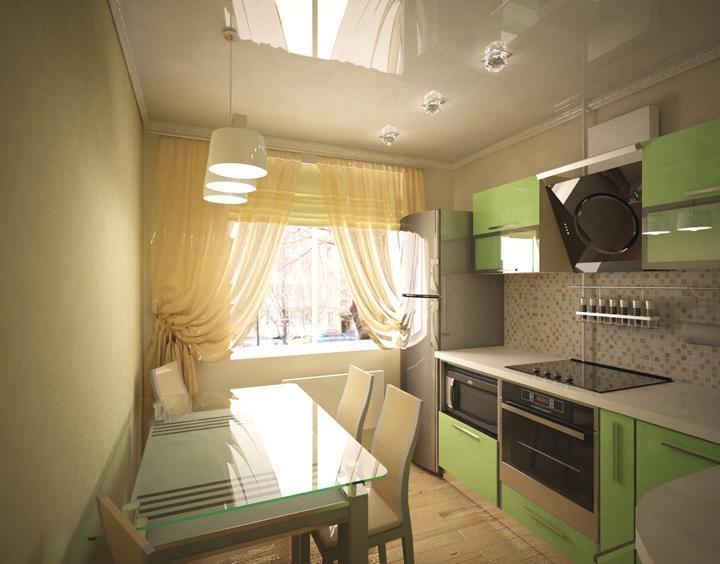 интерьер кухни 9 кв м фото в панельном доме