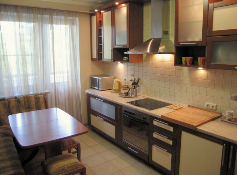 Дизайн кухни 9 кв м в квартире фото