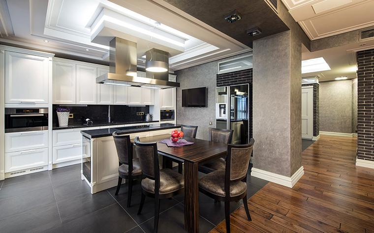Кухня столовая интерьер фото