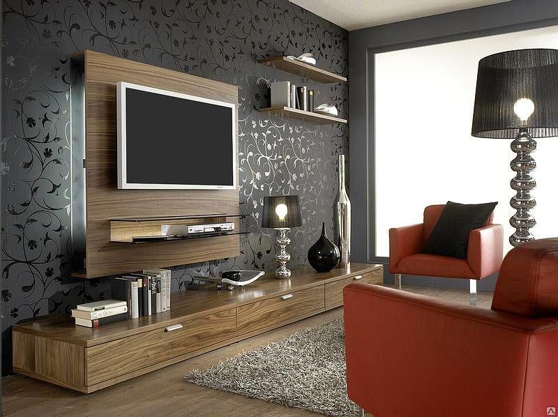 Интерьер стены с телевизором фото