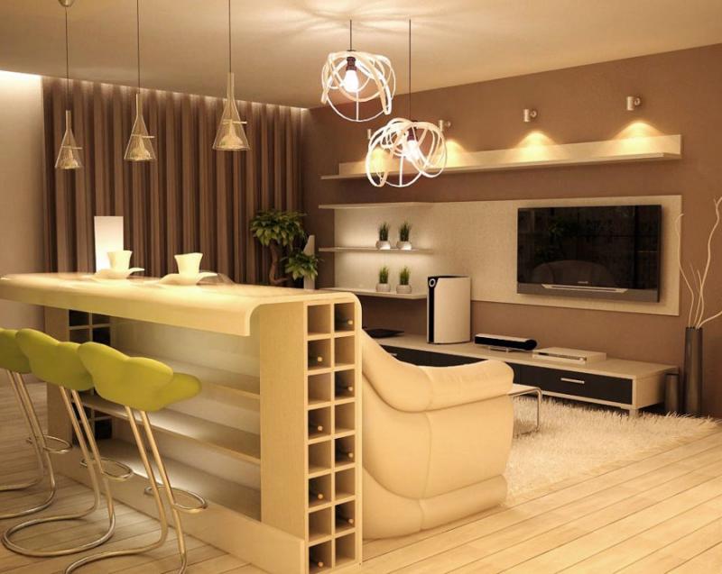 Дизайн барной стойки для квартиры