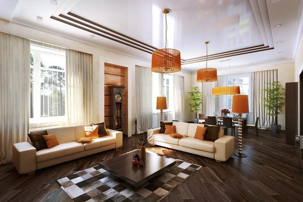 Фото дизайна гостиной в частном доме в полуподвальном помещении