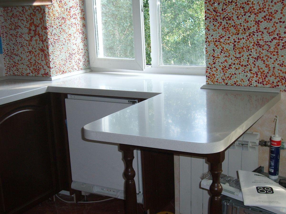 Стол-подоконник на кухне (32 фото): встроенный кухонный стол.