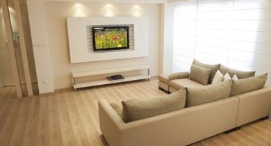 телевизор на стене в интерьере фото