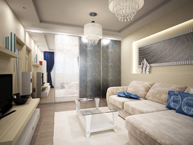Интерьер зала 15 кв.м с угловым диваном фото