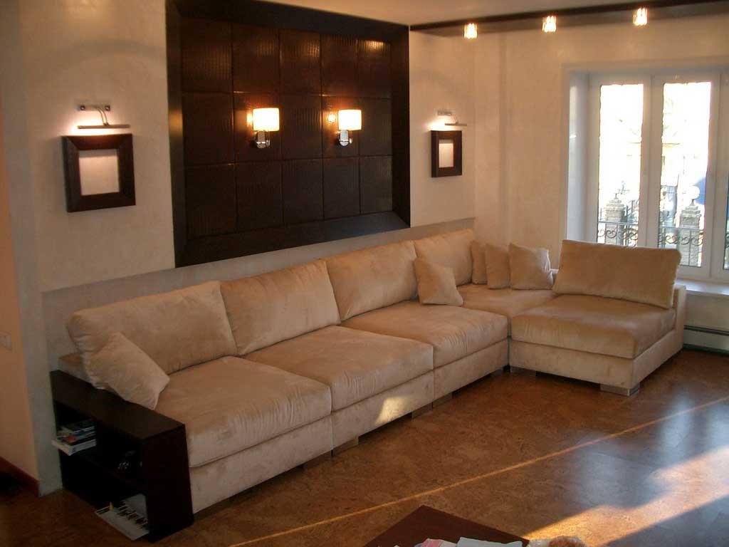 Угловые диваны в зал фото интерьера