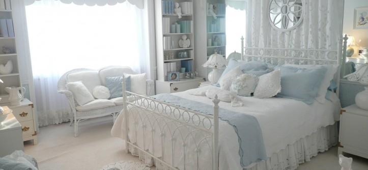 стиль прованс в интерьере спальни фото