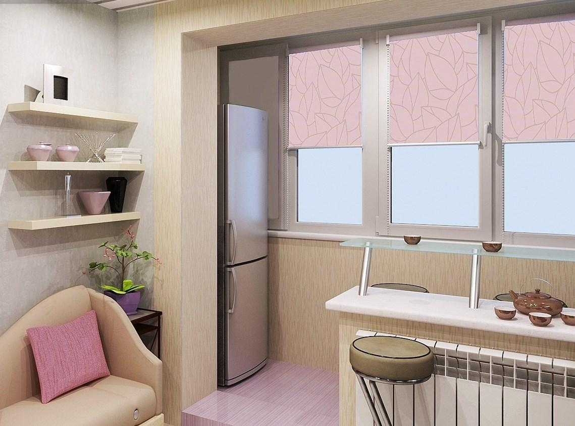 Современная кухня с балконом: объединение, дизайн, фото d....