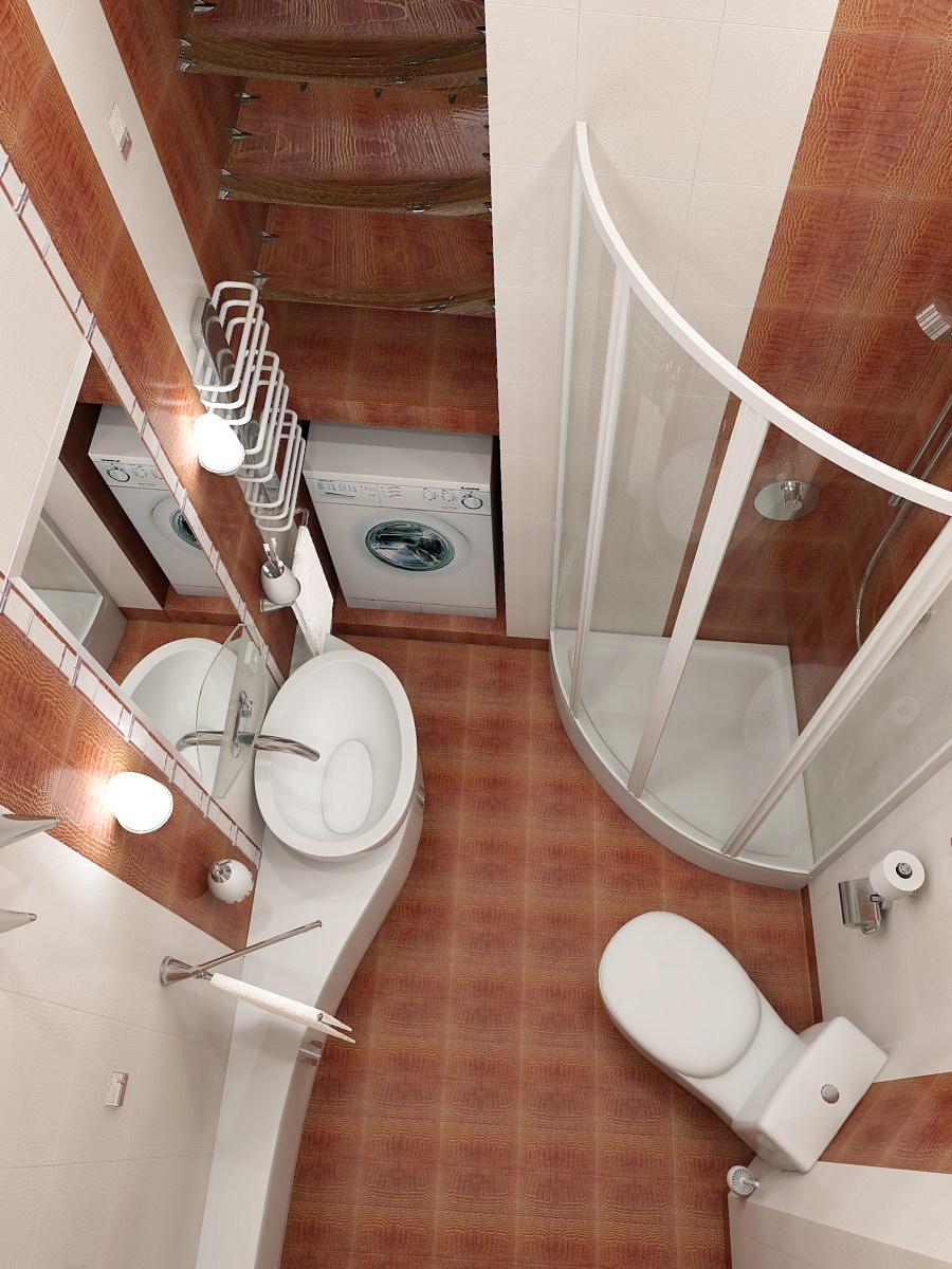 Интерьер и дизайн маленькой ванной комнаты