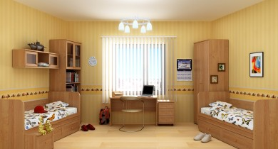 мебель в детскую комнату для двоих детей фото