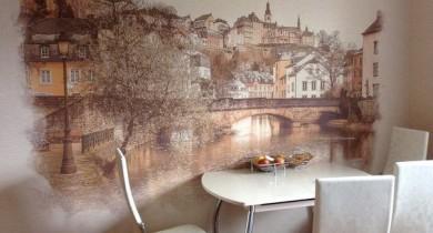 фреска на кухне в интерьере фото