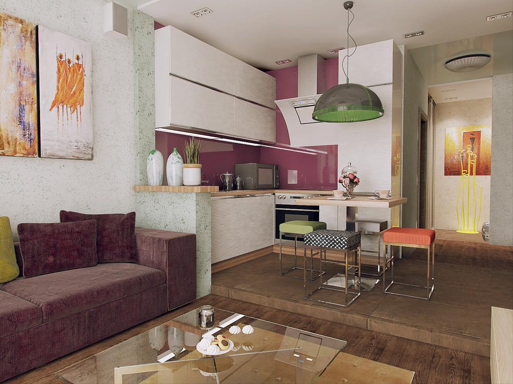 Квартира студия 28 кв.м фото интерьера