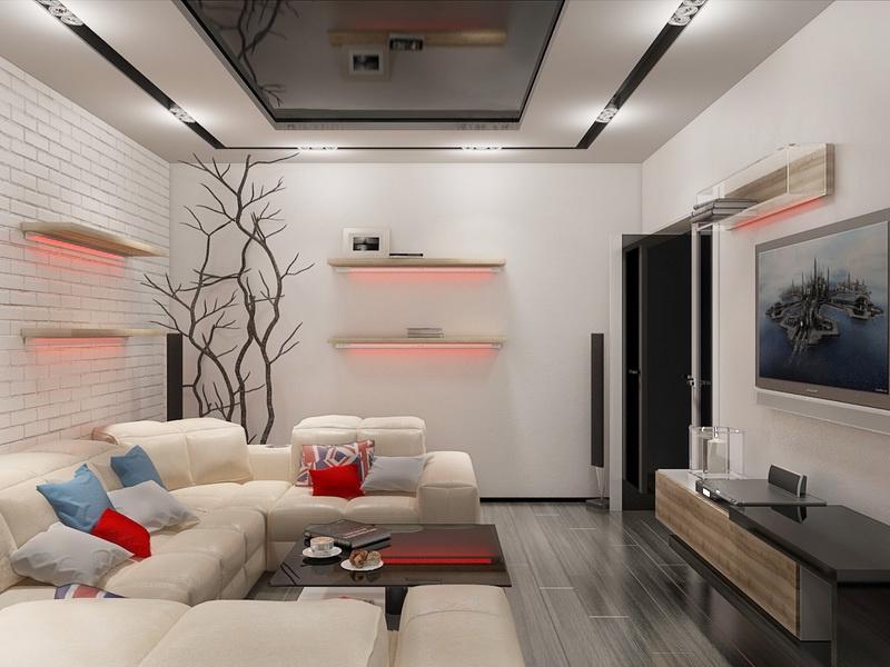 Фото дизайна зала в квартире 17 кв.м