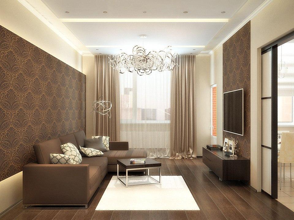 Дизайн зала 19 кв м в квартире