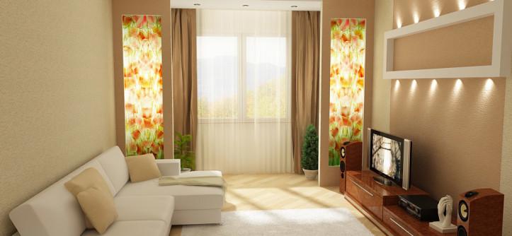 дизайн гостинной комнаты 17 кв.м фото в панельном доме