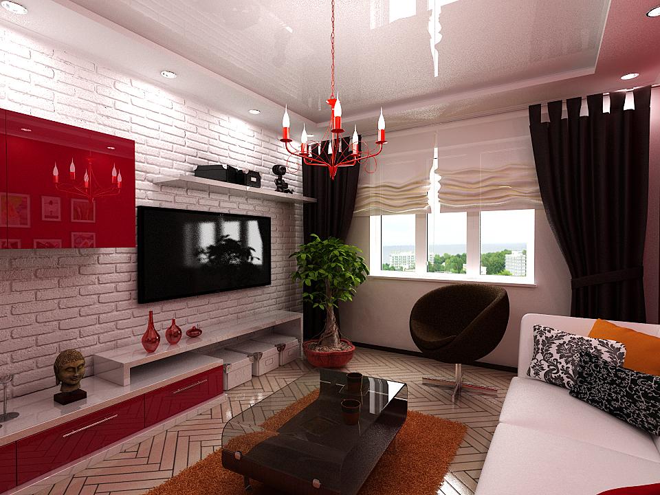 гостиная прямоугольная дизайн фото
