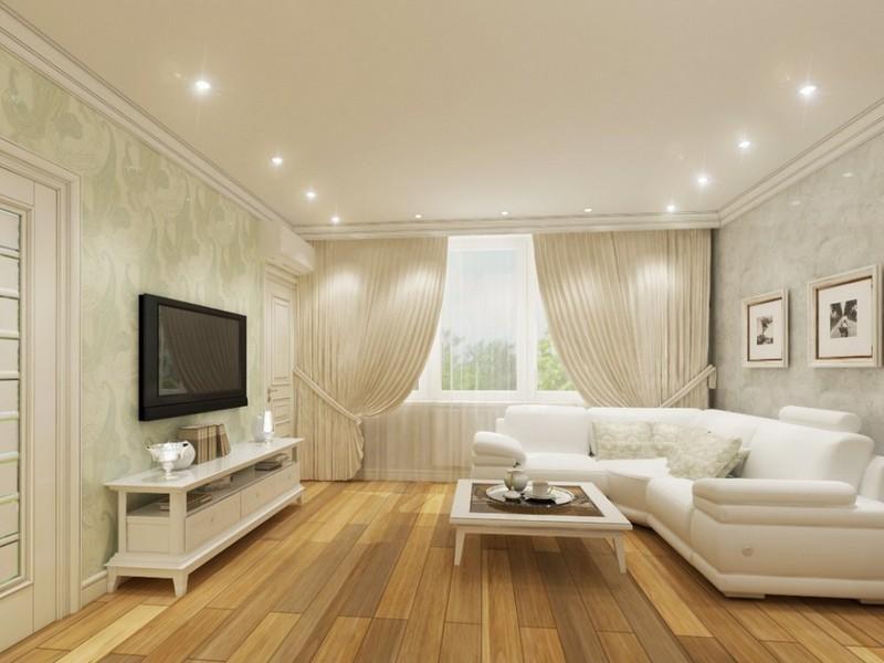 Дизайн потолков с точечные светильники