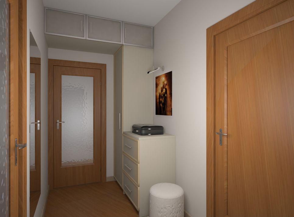 дизайн прихожей и коридора в брежневке 7