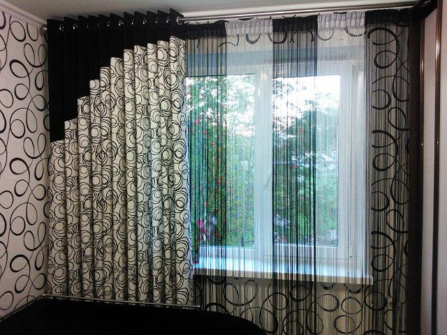 Шторы на люверсах с тюлью для зала: фото, дизайн DomoKed.ru