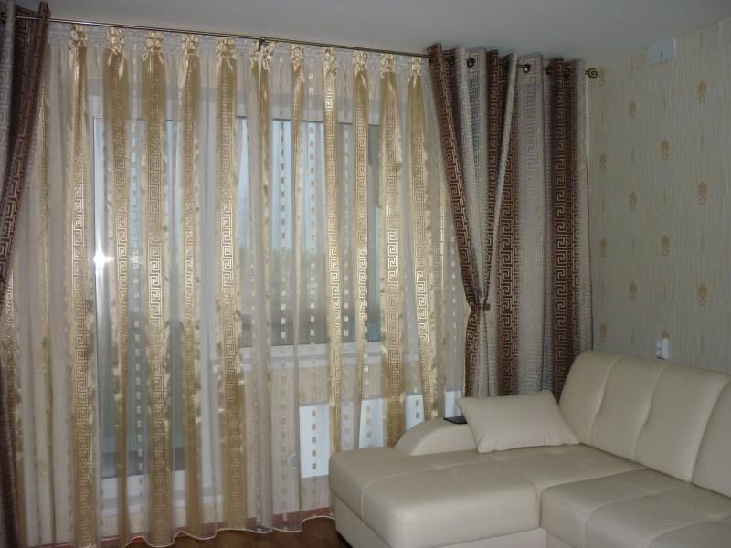 фото шторы для зала на шторы на люверсах