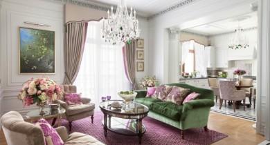 дизайн квартиры в стиле современная классика фото