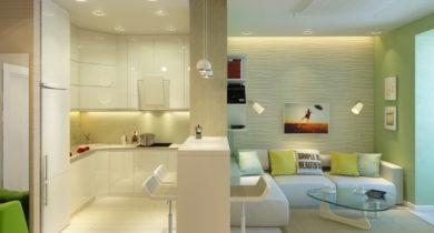 кухня-гостинная 18 квадратов дизайн