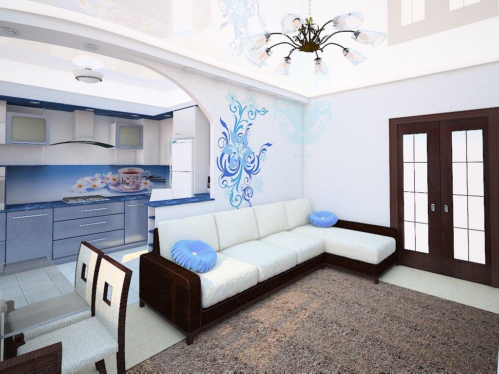 Кухня гостиная дизайн 18 кв м в квартире