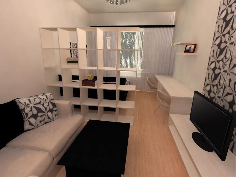 Дизайн прямоугольной комнаты 12 кв.м спальни-гостиной