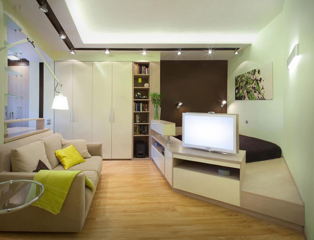 Спальня-гостиная в одной комнате 18 кв