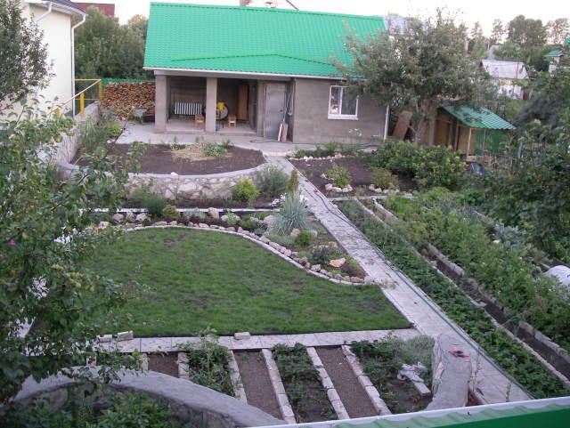 Дизайны садовых участков 6 соток фото своими руками 25