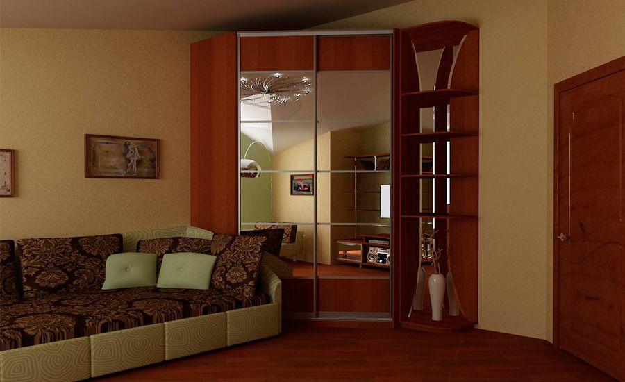Встроенные угловые шкафы в комнату фото