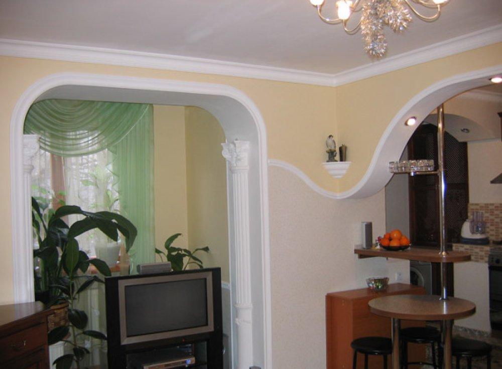 Красивые арки на кухню вместо двери: фото, идеи domoked.ru.