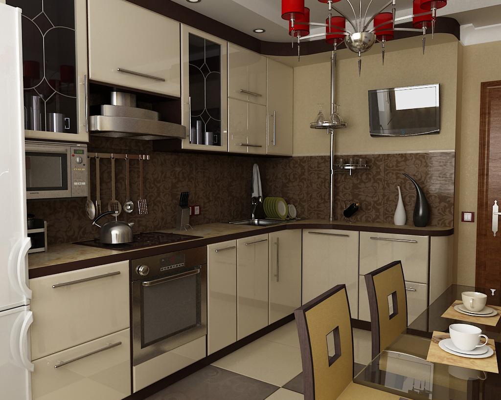 Угловая кухня дизайн интерьер 9 кв метров