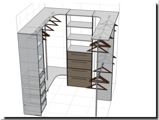 Функциональный дизайн маленькой кладовки в квартире DomoKed.ru