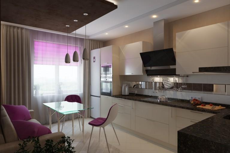 Дизайн кухни 18 кв.м 2017