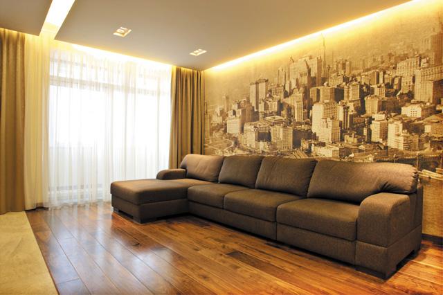 Фотообои фото в интерьере гостиной