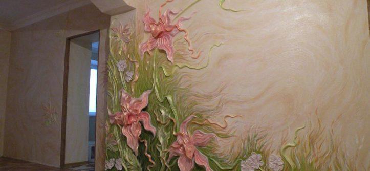 лепнина на стенах в квартире фото