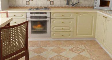 полы на кухне современные фото