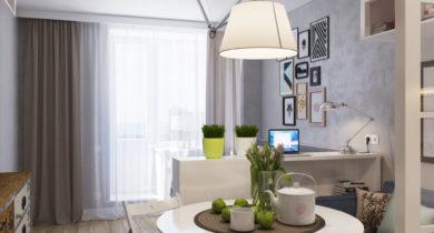 дизайн квартиры студии 25 кв.м фото с одним окном